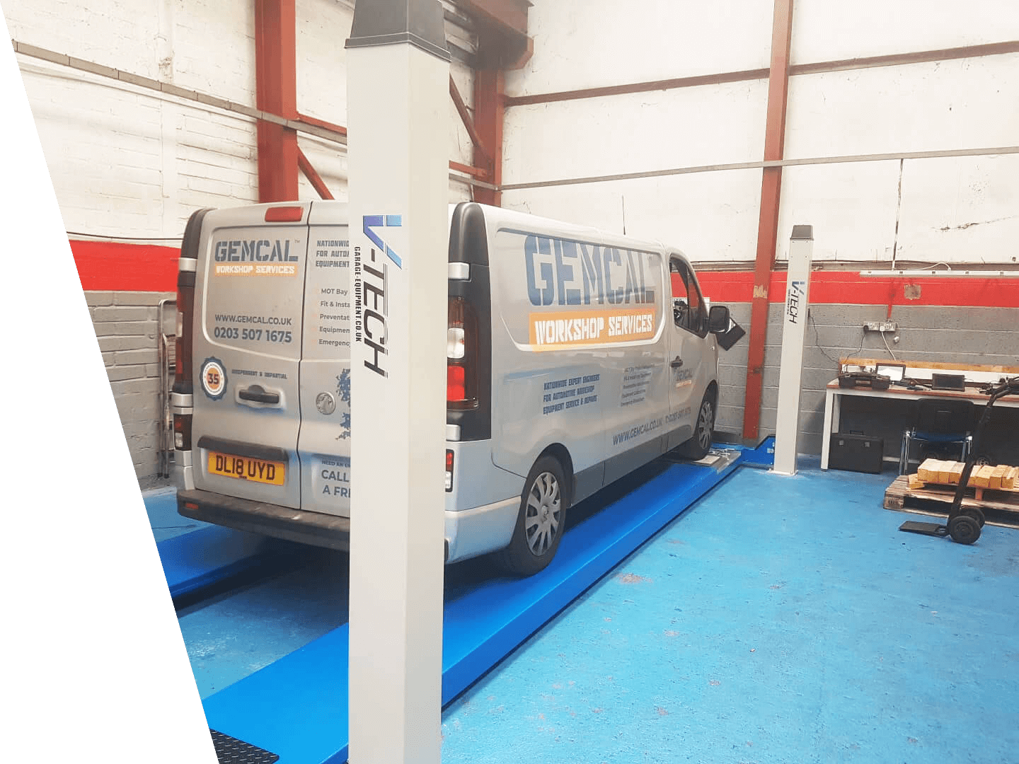 Gemcal with Post Lifts- Advanced Auto Care Installation